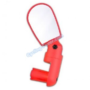Inbike Mini Adjustable Bicycle Rear View Mirror One Piece - Red