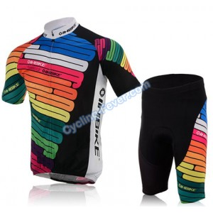 Inbike Colorful Short Sleeve Cycling Clothing Set for Men - XL Size