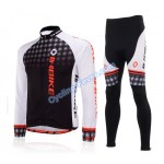 Inbike Long Sleeve Skinsuit Cycling Clothing Set for Men - L Size