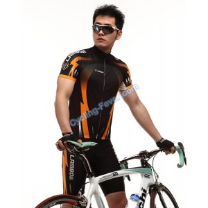 Lambda Thunder Pattern Short Sleeve Cycling Clothing Set - L Size