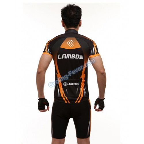 f6dafcd9a Lambda Thunder Pattern Short Sleeve Cycling Clothing Set - M Size