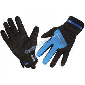 Lambda High Quality Full Finger Blue Cycling Gloves - M Size