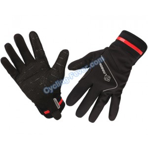 Lambda High Quality Full Finger Black Cycling Gloves - M Size