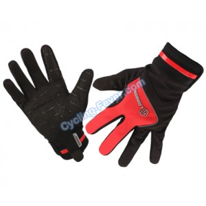 Lambda High Quality Full Finger Red Cycling Gloves - XL Size