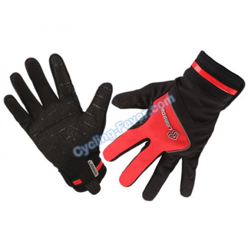 lambda high quality full finger red cycling gloves l size. Black Bedroom Furniture Sets. Home Design Ideas