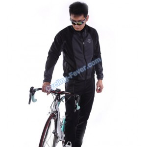 Lambda Winter Windproof Long Sleeve Cycling Clothing Set - XL Size