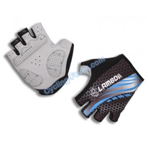 Lambda Cool Half Finger Blue Cycling Gloves - M Size