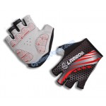 Lambda Cool Half Finger Red Cycling Gloves - L Size