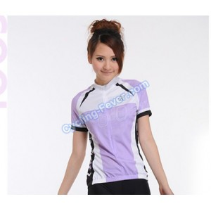 Lambda Purple & White Breathable Flexible Jerseys For Women - M Size