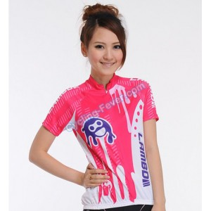 Lambda Cartoon Short Sleeve Breathable Jerseys For Women - L Size
